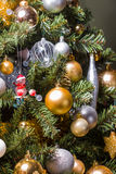 Christmas Tree. Close up of a decorated Christmas Tree with Baubles and other colourful decorations Stock Photography