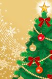 Christmas tree Close-up, golden EPS10 Stock Image