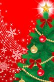 Christmas tree Close-up, Red color EPS10 Stock Photography