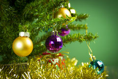 Christmas tree close up Royalty Free Stock Photography