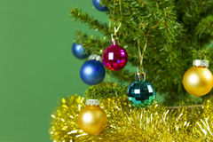 Christmas tree close up Stock Photo