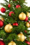 Christmas tree closeup Stock Photos