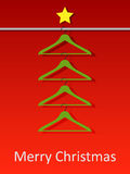 Christmas tree from coat hangers. Vector illustration Stock Photos