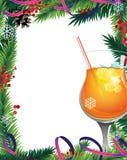 Christmas tree and cocktail Stock Photo