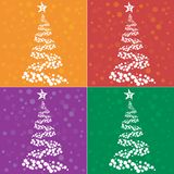 Christmas tree colection. In many colors, vector art Stock Photo