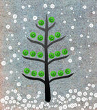 Christmas tree collage with buttons royalty free stock photography