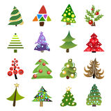 Christmas tree collection Royalty Free Stock Photo