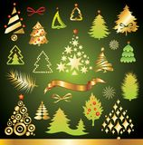 Christmas tree collection. Include additional format eps (Adobe Illustrator Stock Photo