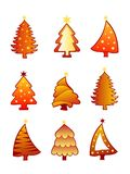Christmas tree collection  Stock Images