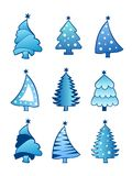 Christmas tree collection  Royalty Free Stock Photos