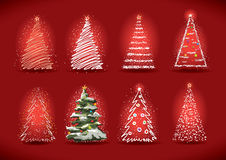 Christmas tree collection. Stock Images