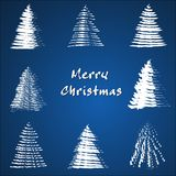 Christmas tree collection. Royalty Free Stock Photos