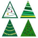 Christmas tree collection Royalty Free Stock Image