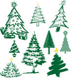 Christmas Tree Collection Stock Photography