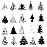 Christmas Tree Collection! Vector eps8 / clip art Royalty Free Stock Image