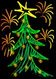 Christmas tree color Royalty Free Stock Photography
