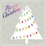 Christmas tree with color blub Royalty Free Stock Images