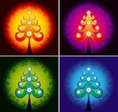 Christmas tree color vector. Decorative Christmas tree perfect for card Stock Photos