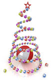 Christmas tree of colored balls. For decoration festive scenes Stock Photos