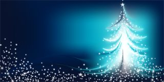 Christmas tree bright gradient background royalty free stock photography