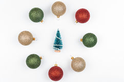 Christmas tree with colorful balls Royalty Free Stock Image