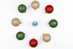 Christmas tree with colorful balls Stock Images