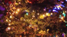 Christmas tree with Colorful bokeh and christmas lights. 1920x1080. hd stock video footage