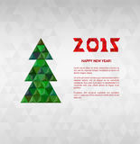 Christmas tree with colorful diamond, vector illustration. Christmas and 2015 New Year card Royalty Free Stock Photography