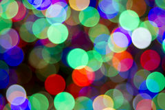 Christmas Tree Colorful Lights Bokeh Royalty Free Stock Photos