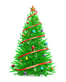 Christmas tree with colorful ornaments Royalty Free Stock Image