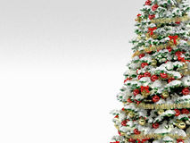 Christmas tree with colorful ornaments, isolated Royalty Free Stock Photo