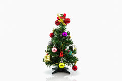 Christmas tree with colorful ornaments. Royalty Free Stock Photos