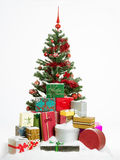 Christmas tree with colorful presents Stock Image