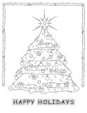 Christmas Tree coloring Stock Photos