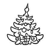 Christmas tree coloring pages Royalty Free Stock Images