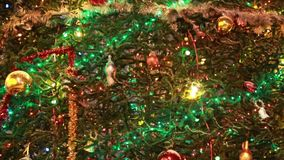 Christmas tree with colourful stock video