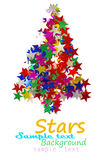 Christmas tree composed. Of colored stars Royalty Free Stock Photo