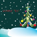 Christmas tree composition Royalty Free Stock Images