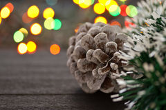 Christmas tree cone Stock Photography
