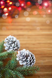 Christmas tree with cones Stock Photos