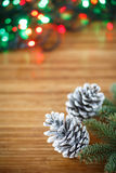 Christmas tree with cones Stock Images