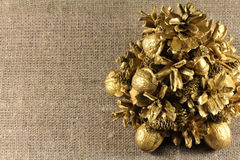 Christmas tree from the cones Royalty Free Stock Photo