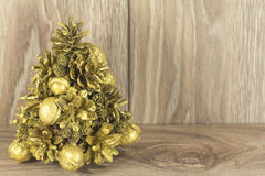 Christmas tree from the cones Royalty Free Stock Photography