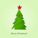 Christmas tree consisting of triangles Royalty Free Stock Photography