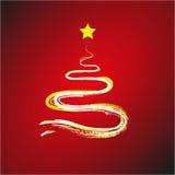 Christmas Tree contrail Stock Photos