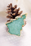 Christmas tree cookie Royalty Free Stock Images