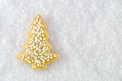 A christmas tree cookie Stock Photo