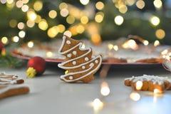 Christmas tree cookie Stock Image