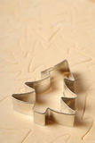 Christmas tree cookie cutter stock photos