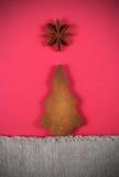 Christmas tree cookie with star Stock Photos